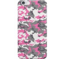 Pink White Gray Camo Pattern iPhone Case/Skin