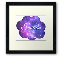 Smillan (White Font) Framed Print