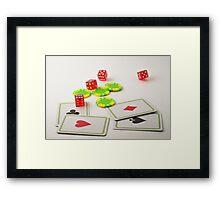 Gambling Casinò Framed Print