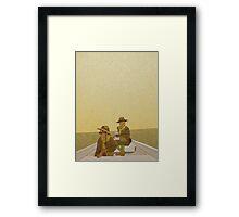 Scout Master Ward + Gadge Framed Print