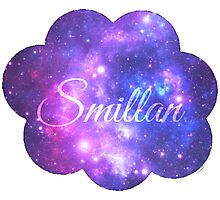 Smillan (Starry Font) Photographic Print