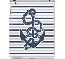 Anchor on Blue Stripes iPad Case/Skin