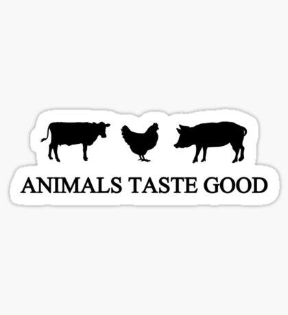 Animals Taste Good Sticker