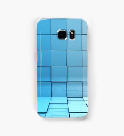 Cubes background Samsung Galaxy Case/Skin