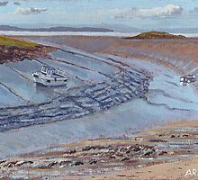 Uphill Estuary # 1 by Antony R James