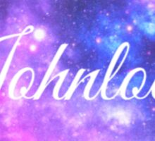 Johnlock (White Font) Sticker