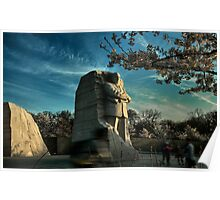 MLK Memorial Cherry Blossoms Poster