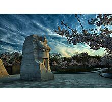 MLK Memorial Cherry Blossoms Photographic Print