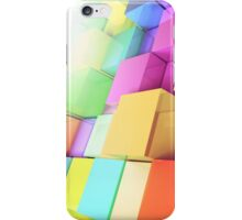 3d colored cubes background iPhone Case/Skin