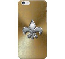 Gold Damask Graphic with Fleur De Lis iPhone Case/Skin