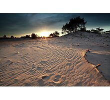 Sunset over dunes Photographic Print