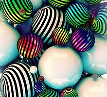 Abstract colored balls by carloscastilla