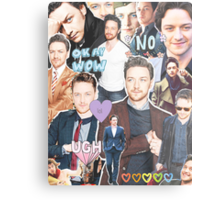 james mcavoy collage Metal Print