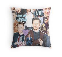 james mcavoy collage Throw Pillow
