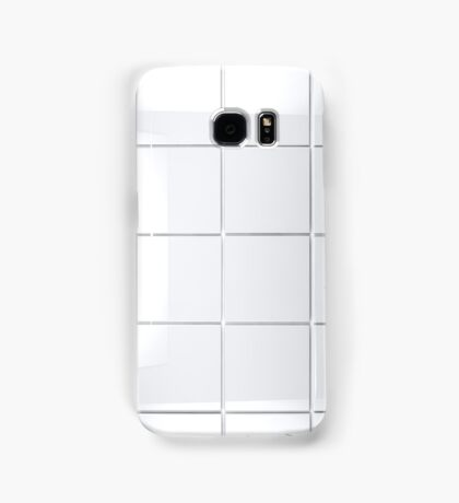 white Tile background Samsung Galaxy Case/Skin