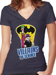 Villains of Science Women's Fitted V-Neck T-Shirt