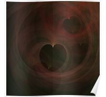 Abstract Art Hearts Poster