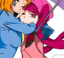 Orihime and Riruka's Rainy Day Sticker