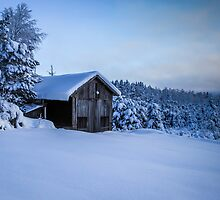 Winter hut by Mark Williams