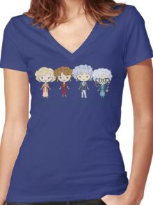 thank you for being a friend Women's Fitted V-Neck T-Shirt