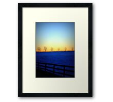 Old Auburn Winter Sunset Framed Print
