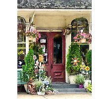 Flower Shop With Birdhouse Strasburg PA Photographic Print