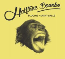 Halftone Bonobo by thekinginyellow
