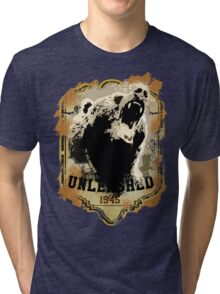 1945 Bear Style Tri-blend T-Shirt