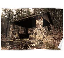 Mountain Shelter in Hot Springs Arkansas Poster