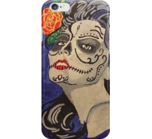Day of the dead beauty iPhone Case/Skin