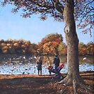Feeding the Ducks at Southampton Common by martyee