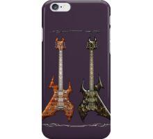 Duet Death Metal Guitars iPhone Case/Skin