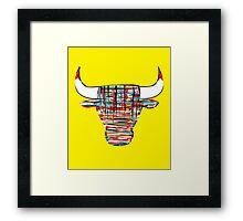 """""""Chi-Bull"""" Framed Print"""