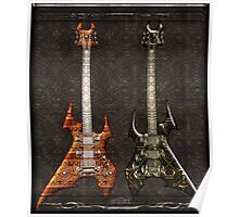 Duet Death Metal Guitars Poster