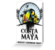 Costa Maya Greeting Card