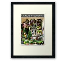 Strasburg Flower Shop Framed Print