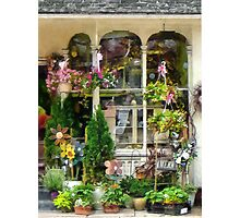 Strasburg Flower Shop Photographic Print