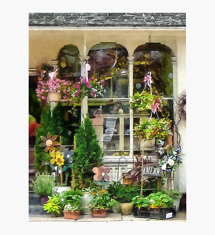 Strasburg Flower Shop Photographic Print