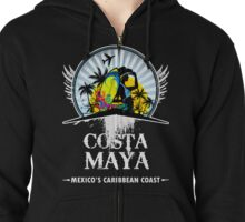 The Mayan of Mexico Zipped Hoodie