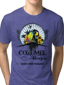 Cozumel Mexico Summer Place Tri-blend T-Shirt