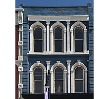 Blue and White Building Port Huron Michigan Photographic Print
