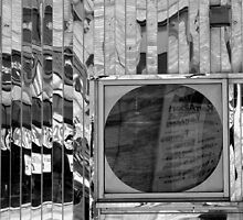 Diner Window 7 Black and White by marybedy