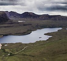 A loch between two stones, Coigach Scotland by Cherrybom
