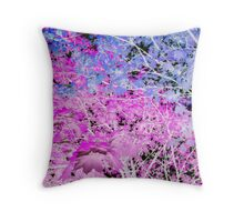 Leaves Pink & Blue Throw Pillow