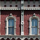 Fancy Windows Black and White by marybedy