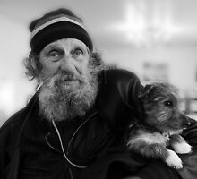 Geoffrey the blind motorcyclist and dog.. by rennaisance