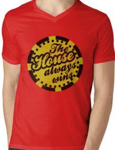 The House Always Wins Mens V-Neck T-Shirt
