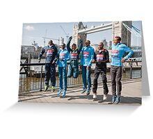 london Marathon  Elite Men Greeting Card