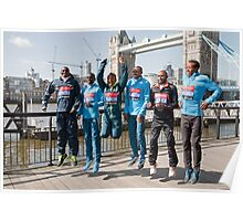 london Marathon  Elite Men Poster