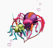 Spiders in Love by CarrieScribbles